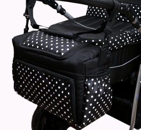 TK-10-Wickeltasche-KIM-von-Baby-Joy-XXXL-bergre-Graphit-Grn-Windeltasche-Pflegetasche-Babytasche-Tragetasche-0-1