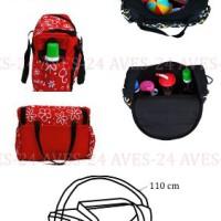 Wickeltasche-Kinderwagentasche-Schwarz-Blumen-6-mit-Wickelunterlage-0-0