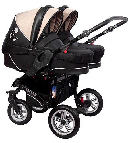 tfk twinner twist duo geschwisterwagen grau mit babywanne und adapter. Black Bedroom Furniture Sets. Home Design Ideas