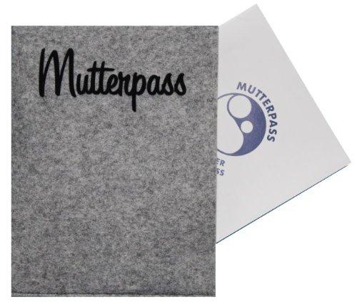 einfache-graue-Mutterpass-Tasche-mit-Flock-Schrift-Mutterpass-seitlich-offen-0