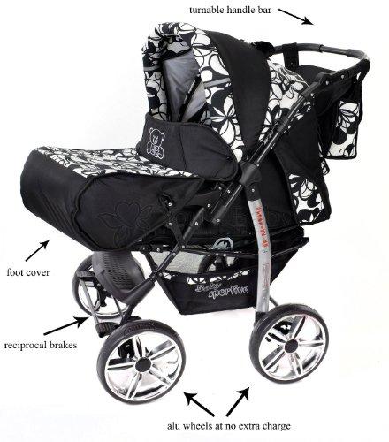 baby sportive kamil kombikinderwagen set incl. Black Bedroom Furniture Sets. Home Design Ideas