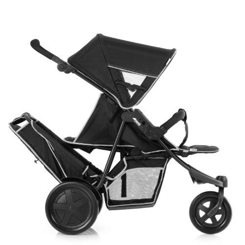 hauck 51304 geschwisterwagen freerider schwarz. Black Bedroom Furniture Sets. Home Design Ideas