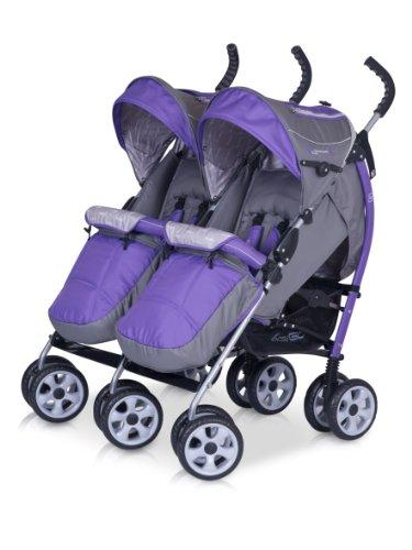 kinderwagen duo comfort ultra violet f r geschwister zwillinge spazierwagen buggy aus. Black Bedroom Furniture Sets. Home Design Ideas